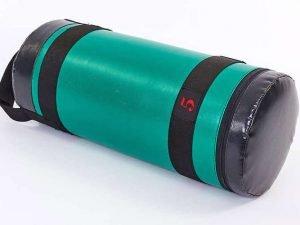 Мешок для кроссфита и фитнеса UR (PVC, нейлон, вес 5кг, р-р 56×22см, зеленый-черный)
