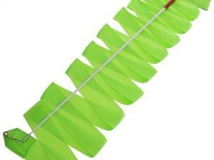 Лента для художественной гимнастики с палочкой 6м Lingo (нейлон, l-6м, палочка-металл, l-56см, цвета в ассортименте) - Цвет Зеленый