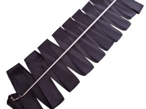 Лента для художественной гимнастики с палочкой 6м Lingo (нейлон, l-6м, палочка-металл, l-56см, цвета в ассортименте) - Цвет Черный