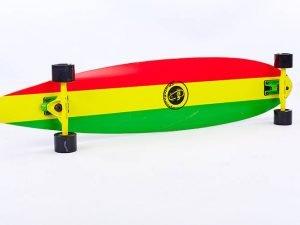 Лонгборд деревянный профессиональный из канадского клена 41in круизер (желтый-зеленый)