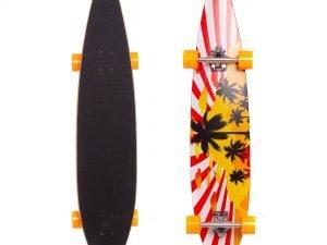 Лонгборд Круизер (скейтборд в сборе) (колесо-PU, р-р деки 117×22,5см, АВЕС-7, цвета в асортименте)