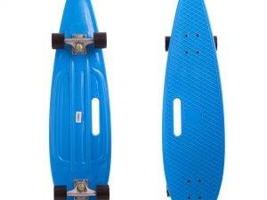 Лонгборд круизер пластиковый Penny 36in дека с отверстием (PU, р-р 93x23см, цвета в ассортименте) - Цвет Голубой