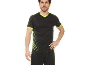 Футбольная форма (PL, р-р L-3XL, рост 160-185, черный-салатовый) - XL, рост 170-175