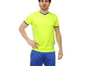 Футбольная форма (PL, р-р L-3XL, рост 160-185, салатовый-синий) - XL, рост 170-175