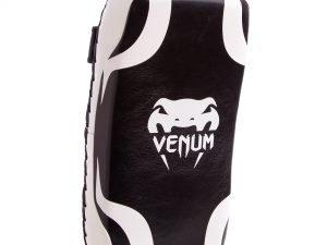 Макивара Изогнутая (1шт) кожаная VNM (поддержка для рук, р-р 40x20x8см, черный-белый)