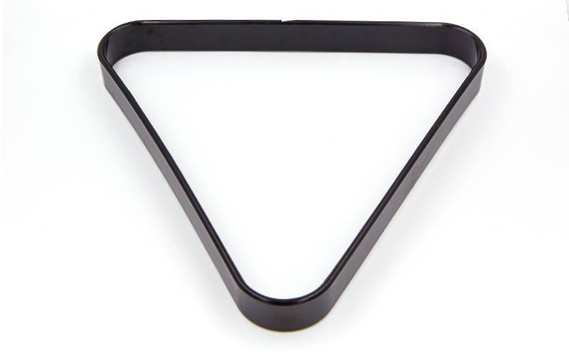 Треугольник для бильярда (пластик, диаметр шаров 68мм, черный)
