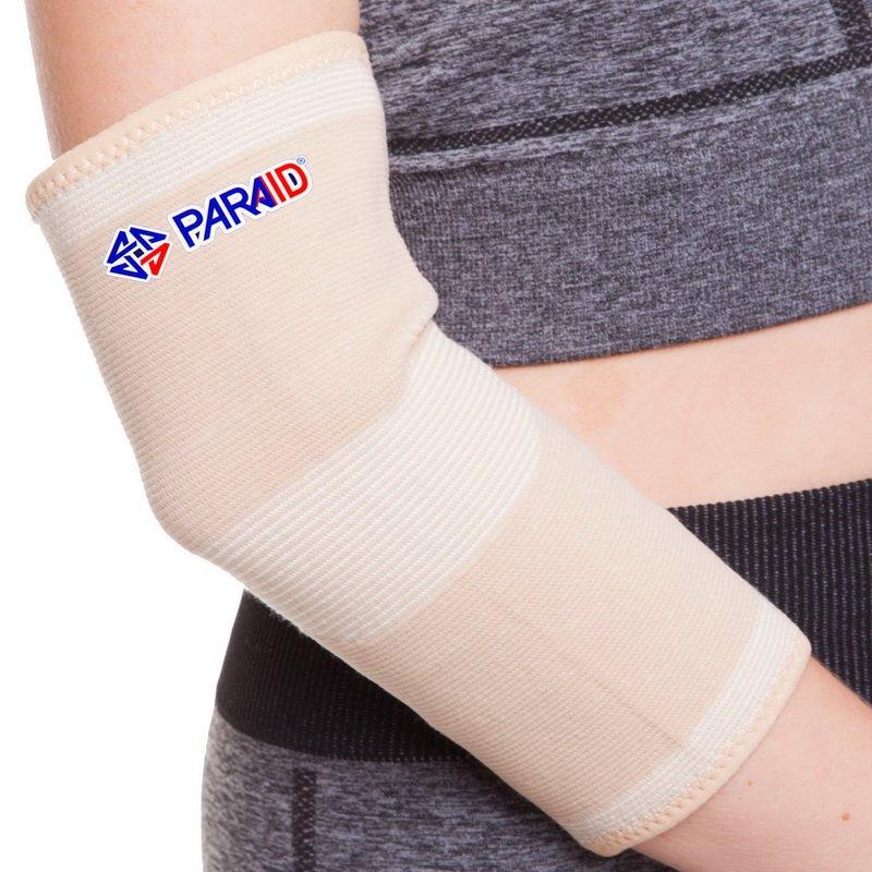 Налокотник эластичный (1шт) PARAID (полиамид, спандекс, р-р S-L, телесный)