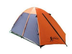 Палатка кемпинговая 3-х местная с тентом и коридором TOURIST (р-р 1,8х(1+2)х1,2м,PL 170T,PE)