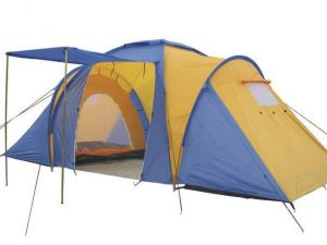 Палатка кемпинговая 4-х мест 2-х комн с тентом и тамбуром FAMILY (2,1x(1,4+1,7+1,4)х1,7м)