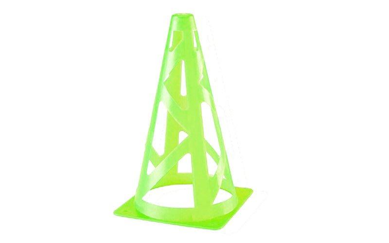 Фишка конус тренировочный с отверстиями 23см (пластик мягкий, h-23см, цвета в ассортименте)