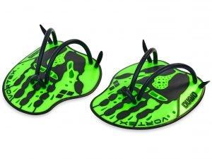 Лопатки для плавания гребные ARENA VORTEX EVOLUTION (TPR, силикон, р-р М-17х19см, L-18x20см, цвета в ассортименте) - Зеленый-M