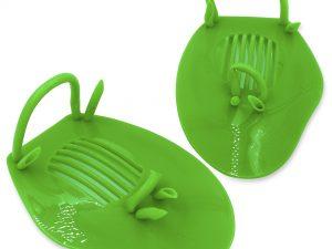 Лопатки для плавания гребные (пластик, резина, PVC чехол, синие, желтые, зеленые)