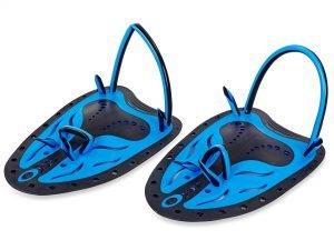 Лопатки для плавания гребные (пластик, резина, р-р S-L, желтый, синий, салатовый) - L