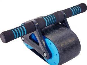 Ролик для пресса (пластик, металл, р-р 37х23х15,5см, серый-синий)