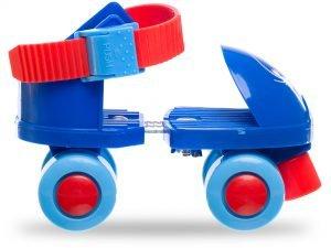 Роликовые коньки раздвижные (квады) Record размер 25-30 красный, синий