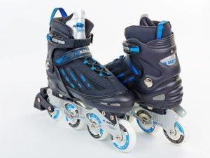 Роликовые коньки раздвижные KEPAI размер 42-44 черный-синий
