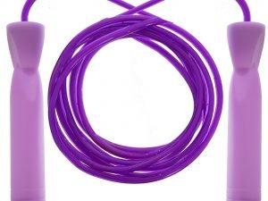 Скакалка скоростная с подшипником и PVC жгутом и блестками (10шт в уп,цена за 1шт) (l-2,6м,d-5,5мм)