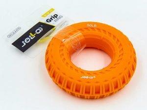 Эспандер кистевой Кольцо 50LB (силикон, нагрузка 50LB(22.5кг),оранжевый)