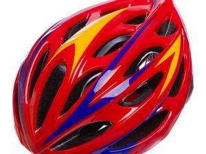 Велошлем кросс-кантри с механизмом регулировки (EPS,пластик, PVC,р-р L-58-61,цвета в ассортименте) - Цвет Красный-синий