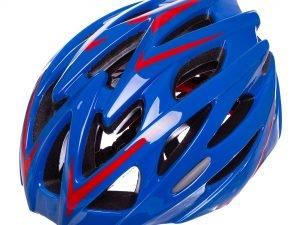 Велошлем кросс-кантри с механизмом регулировки (EPS,пластик, PVC,р-р L-58-61,цвета в ассртименте) - Цвет Синий