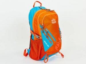 Рюкзак спортивный с жесткой спинкой COLOR LIFE V-32л (нейлон, р-р44х27х14см, цвета в ассортименте) - Цвет Голубой-оранжевый