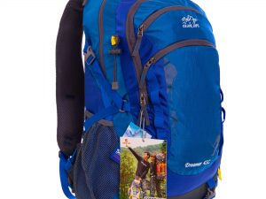 Рюкзак спортивный с жесткой спинкой COLOR LIFE V-25л (нейлон, р-р 51х22х34см, цвета в ассортименте) - Цвет Синий