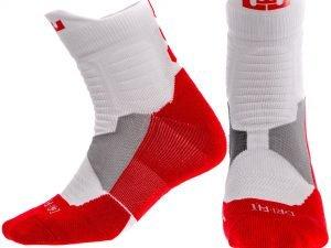 Носки спортивные для баскетбола ALL STAR (нейлон, хлопок, р-р 40-45, цвета в ассортименте) - Цвет Красный-белый