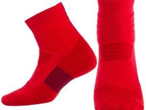 Носки спортивные для баскетбола (нейлон, хлопок, р-р 40-45, цвета в ассортименте) - Цвет Красный