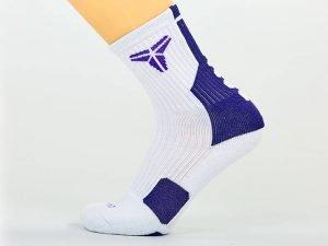 Носки спортивные для баскетбола (нейлон, хлопок, р-р 40-45, цвета в ассортименте) - Цвет Белый-синий