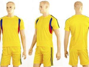 Футбольная форма подростковая Line (PL, р-рM-XL, желтый, шорты желтые) - L-28, рост 145-155