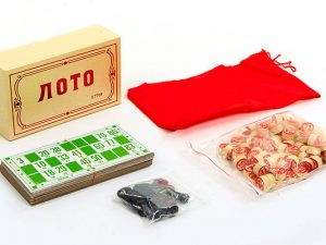 Лото настольная игра в цветной картонной коробке (р-р коробки 17,5x10x5,5см )