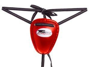 Защита для паха мужская Раковина TWINS (сталь, PVC, р-р S-XL, цвета в ассортименте) - Красный-L