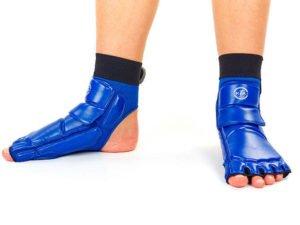 Защита стопы носки-футы для тхэквондо(9) (PU, р-р 6 (38-39) – 9 (43-44) (260-295мм), синяя)