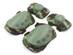 Защита тактическая наколенники, налокотники (р-р XL, ABS, PL-600D, камуфляж Woodland)