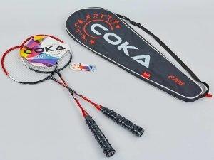 Набор для бадминтона 2 ракетки в чехле COKA (сталь, цвета в ассортименте) - Цвет Красный