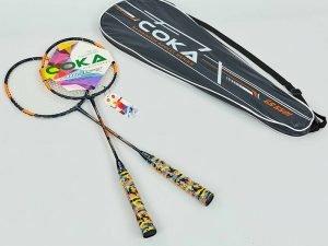 Набор для бадминтона 2 ракетки в чехле COKA (сталь, цвета в ассортименте) - Цвет Оранжевый