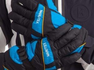 Перчатки горнолыжные теплые (р-р M-L, L-XL, цвета в ассортименте, уп.-12пар, цена за 1пару) - Черный-голубой-M-L