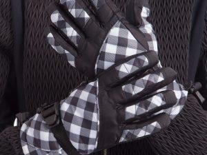 Перчатки горнолыжные теплые женские (р-р M-L, L-XL, цвета в ассортименте, уп.-12пар, цена за 1пару) - Черный-белый-M-L