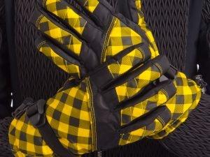 Перчатки горнолыжные теплые женские (р-р M-L, L-XL, цвета в ассортименте, уп.-12пар, цена за 1пару) - Черный-желтый-M-L