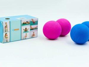 Массажер для спины SP-Planeta DuoBall Rad Roller (TPR, размер 11см, синий, розовый)