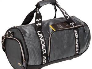 Сумка для спортзала Бочонок UNDER ARMOUR (полиэстер, р-р 43х23х23см, цвета в ассортименте) - Цвет Серый