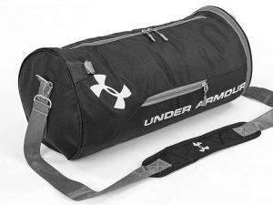 Сумка для спортзала Бочонок UNDER ARMOUR с отделением для обуви (PL,р-р 50х24х24см,цвета в ассортименте) - Цвет Черный-серый