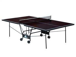 Стол теннисный уличный GSI-Sport (G-street 2) (складной,фанера толщина 15мм, металлический профиль 30х20мм, размер 2,74х1,52х0,76м, сетка, вес 62кг, коричневый)