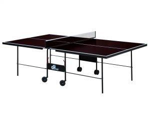 Стол теннисный уличный GSI-Sport (G-street 1) (складной,фанера толщина 15мм, металлический профиль 30х20мм, размер 2,74х1,52х0,76м, сетка, вес 57кг, коричневый)