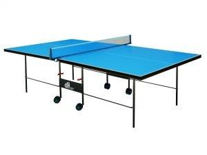 Стол теннисный уличный GSI-Sport (G-street 3) (складной,прорезиненный меломин толщина 4мм, металлический профиль 30мм, размер 2,74х1,52х0,76м, сетка, вес 49кг,синий)