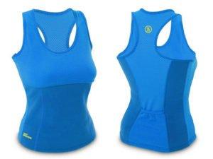 Майка для фитнеса (похудения) HOT SHAPERS голубой (р-р RUS-42-48, неопрен, сетка) - S