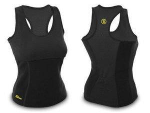 Майка для фитнеса (похудения) HOT SHAPERS черный (р-р RUS-42-48, неопрен, сетка) - L