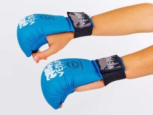 Перчатки для каратэ VNM MITTS (PU, р-р S-L, синий, манжет на резинке) - L