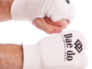 Накладки (перчатки) для каратэ DADO (PL, хлопок, эластан, р-р XS-L, белый) - L