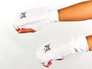 Накладки (перчатки) для каратэ Zelart (PL, хлопок, эластан, р-р L-XL, белый) - L